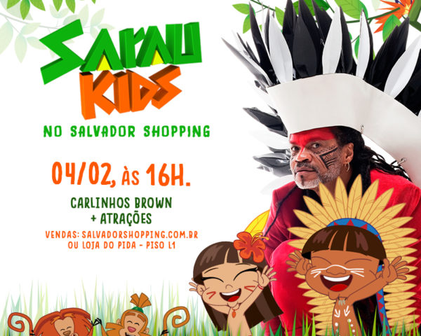 Brown leva edição inédita do Sarau Kids ao Salvador Shopping