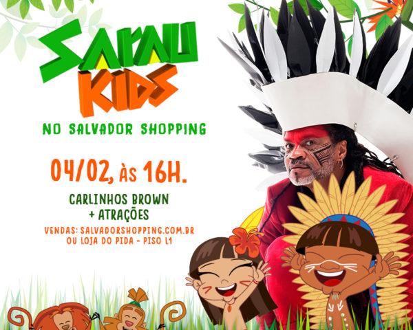 Brown leva edição inédita do Sarau Kids ao Salvador Shopping