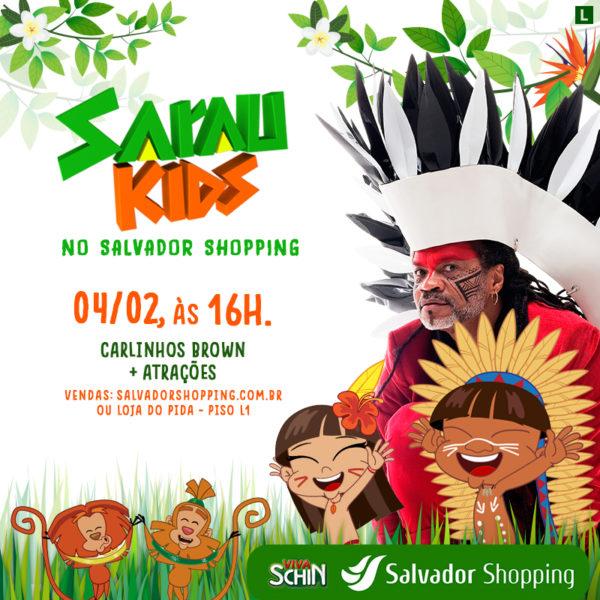 Carlinhos Brown leva edição inédita do Sarau Kids ao Salvador Shopping