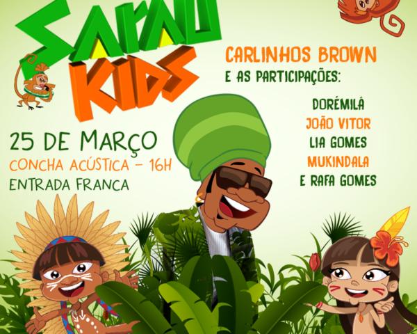 Brown realiza Sarau Kids gratuito na Concha Acústica
